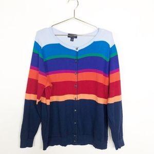 Lands End | Supima Cotton Multicolor Cardigan / L